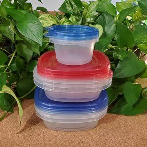 Mixed Set of Food Storage Containers, 8 Total